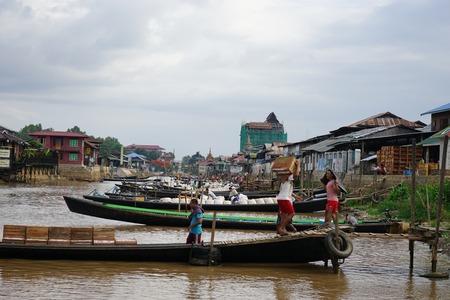 Floating Villages Inle Lake Myanmar Nyaung Shwe
