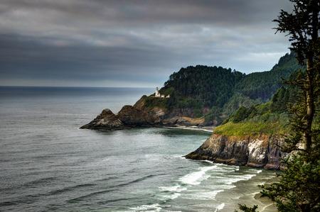 Heceta Lighthouse Coastel View in Oregon United States of America