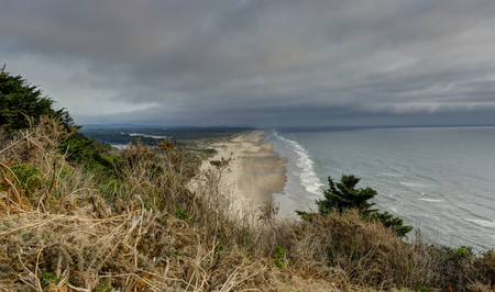 overlooking beach Coastal View with Pacific Ocean in Oregon