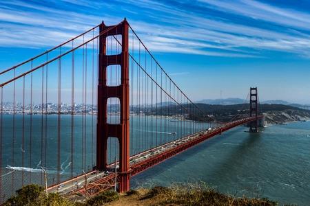 Famous Golden Gate Bridge in San Francisco California United Sta