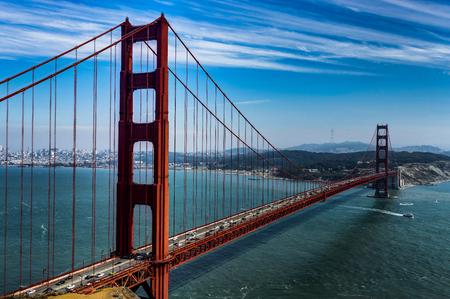 Famous Golden Gate Bridge in San Francisco California United States