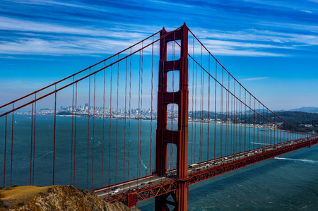 Famous Golden Gate Bridge in San Francisco California United States