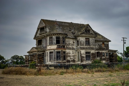 Old Crumbling Building in San Francisco California United States Stock Photo
