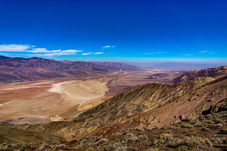 Dantes View in Death Valley National Park California with blue sky Stock Photo