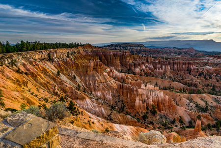 Sunrise over Bryce Canyon with clouds stunstar skyover Bryce Amp Stock Photo