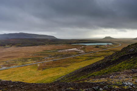 Overlooking Geothermal Field in Iceland