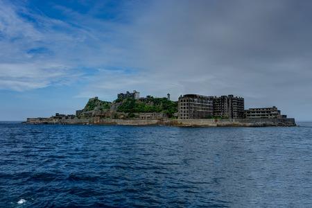 Hashima Island Abondoned Ghost Island near Nagasaki 스톡 콘텐츠