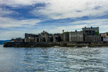 Hashima Island Abondoned Ghost Island near Nagasaki Stock Photo