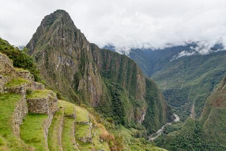 Machu Picchu in Peru Custo South America Stock Photo