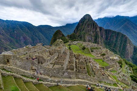 Machu Picchu in Peru Custo South America Stock Photo