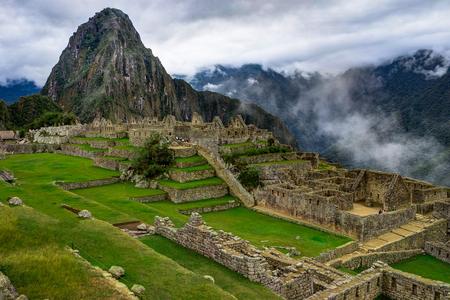 Machu Picchu in Peru Custo South America Banque d'images