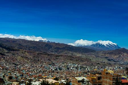 View over La Paz Bolivia