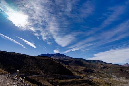 View over Altiplano Desert Atacama Bolivia Stock Photo