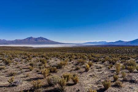 View Across Altiplano Peru desert Salar de Uyuni