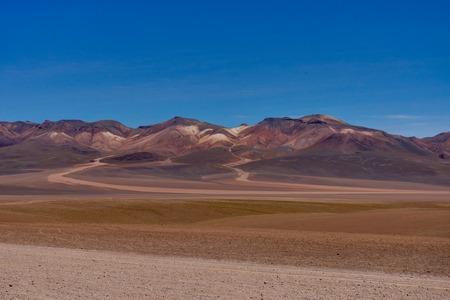View Across Dali Mountains Altiplano Peru desert Salar de Uyuni