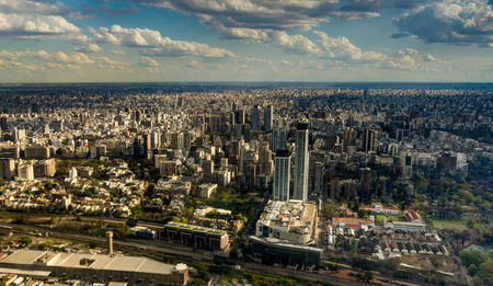 Skyline Panorama Aerial Buenos Aires Argentina