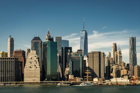 New York Skyline Citiview Manhatten with Freedom Tower World Tra Standard-Bild