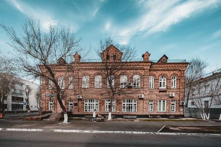 Old historic colonial building in AStana Kazakhstan 免版税图像