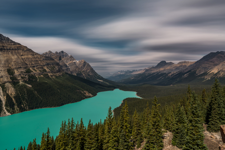 View over Peyto Lake, Banff National Park Canada