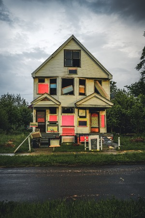 DETROIT, USA - March 07, 2019: The Heidelberg Project in Detroit, Michigan, USA.The Heidelberg Project is an outdoor art project in Detroit, Michigan which found by Tyree Guyton in 1986.