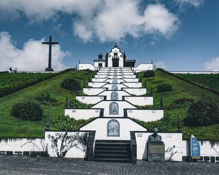 Nossa Senhora da Paz Our Lady of Peace Chapel , Vila Franca do Campo, Sao Miguel, Portugal Imagens - 127424846