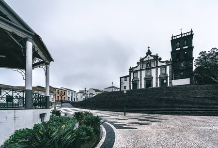 RIBEIRA GRANDE, AZORES, PORTUGAL - JULY 29, 2019: Church of Our Lady of the Star Portuguese: Igreja Matriz de Nossa Senhora da Estrela . Stock Photo - 132494614