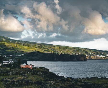 Northern Coast at Sao Vicente Ferreira near Ponta Delgada in Azores islands on Sao Miguel, Portugal.