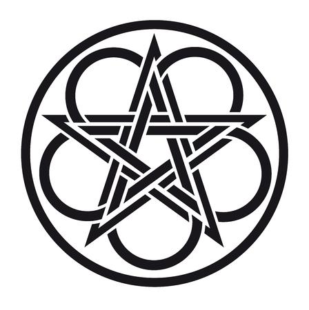 triskel: celtic pentacle vector