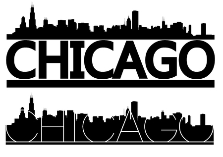 linearly: Chicago Skyline Vector