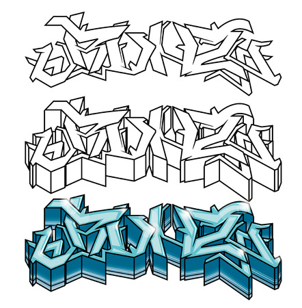 Straatgraffiti Vector Ontwerp