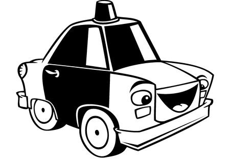 Handmade Cartoon Police Car for Kids Vector