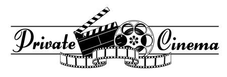 Private cinema Vector Banner Illustration