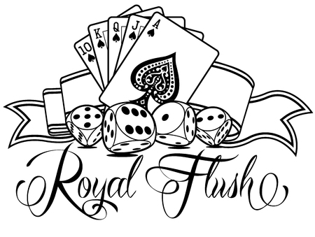 Royal Flush Vector Design Ilustracja