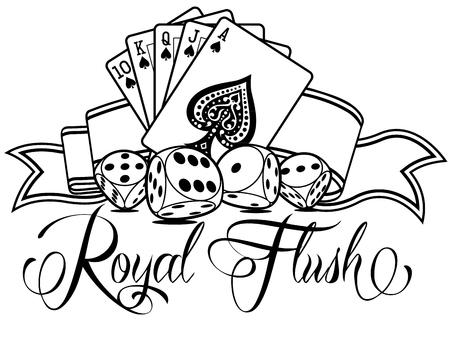 Royal Flush Vector Design Illustration