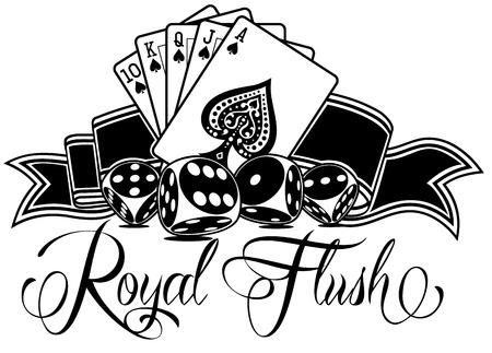 Royal Flush Vector Design Çizim