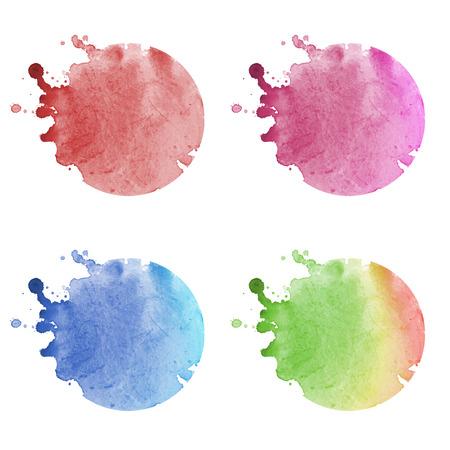 watercolor logo elements Banco de Imagens
