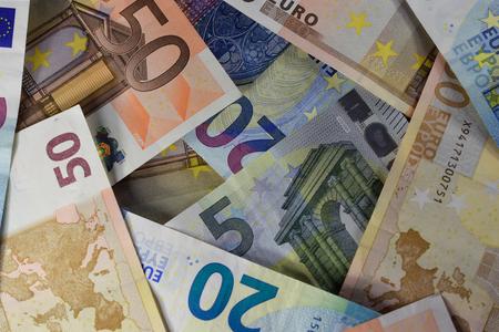 european money banknotes Banco de Imagens