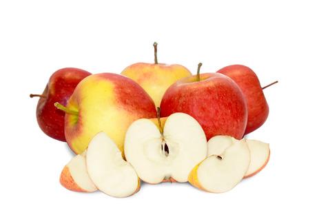 Isolated Apples Banco de Imagens