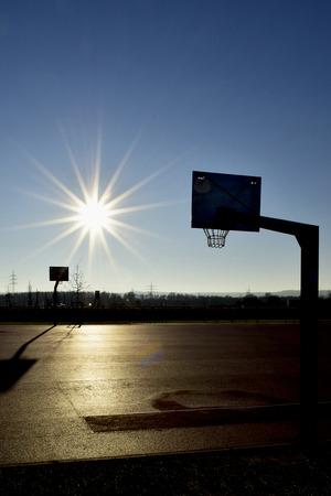 Basketball Court in the Sun