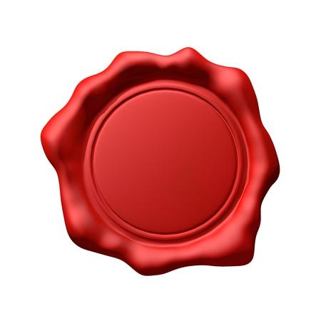 赤いワックス シール 3 - 分離