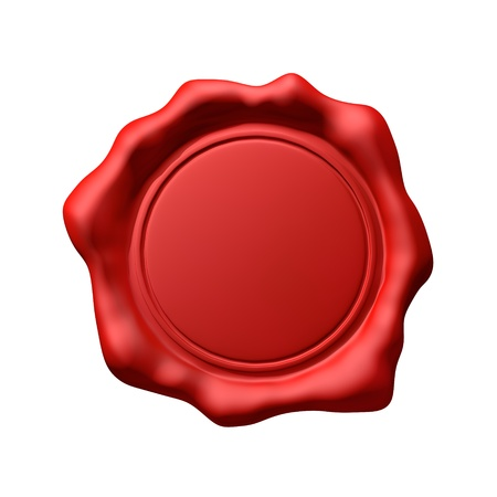 old mark: Red Wax Seal 3 - Isolated