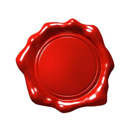Cachet de cire rouge 4 - Isolé Banque d'images - 20108788