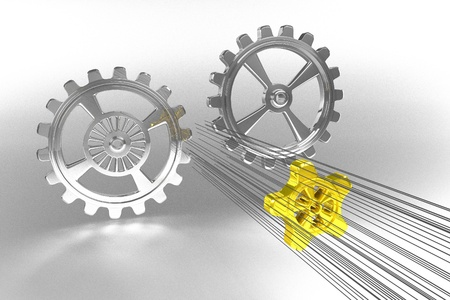 Cogwheels - Solution - Gold photo