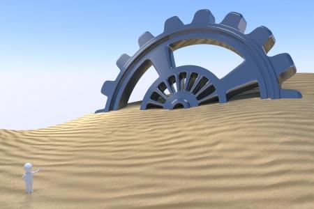 3D Man - Discovery Technology Stok Fotoğraf