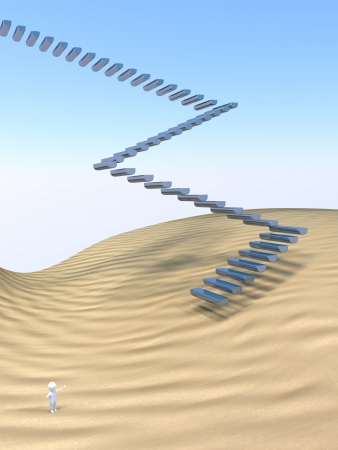 difficult to find: 3D Man - Stairway