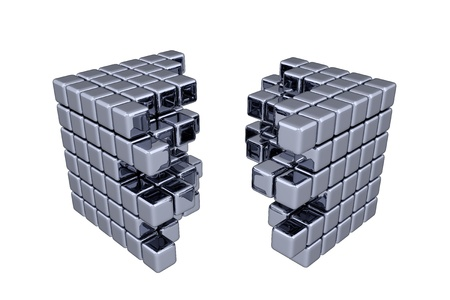 3 D キューブ - 分離