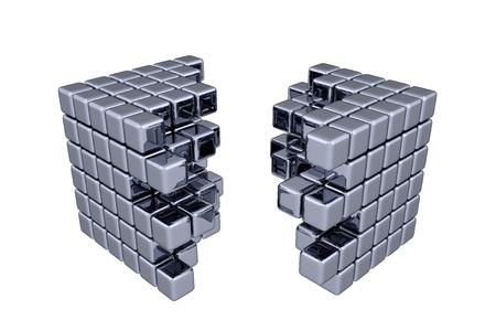3D 큐브 - 분리 스톡 콘텐츠