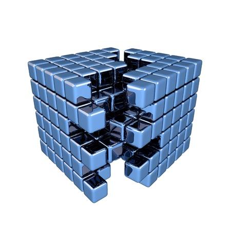 separation: 3D Blue Cube - Separation