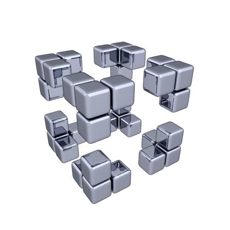 3 D キューブ - コーナー