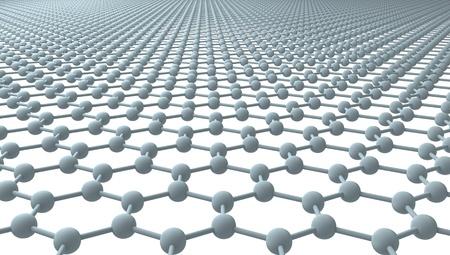グラフェン - 通常の六角形のパターン - 3D 写真素材